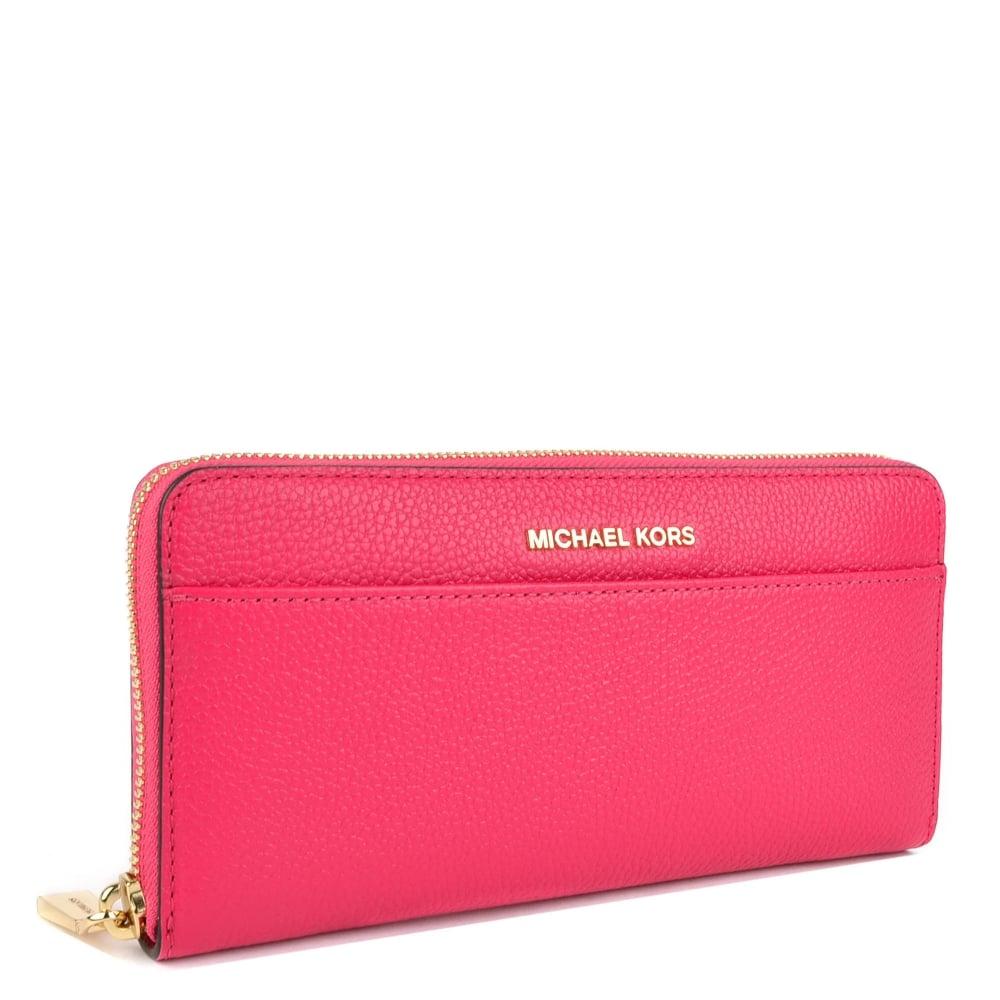 4d3477027dddfb MICHAEL MICHAEL KORS Mercer Ultra Pink Pocket Continental Wallet