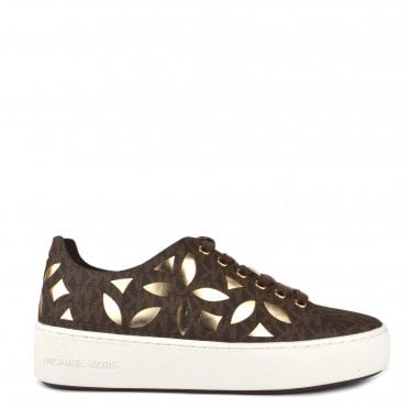 Mimi Brown Perforated Up Trainer