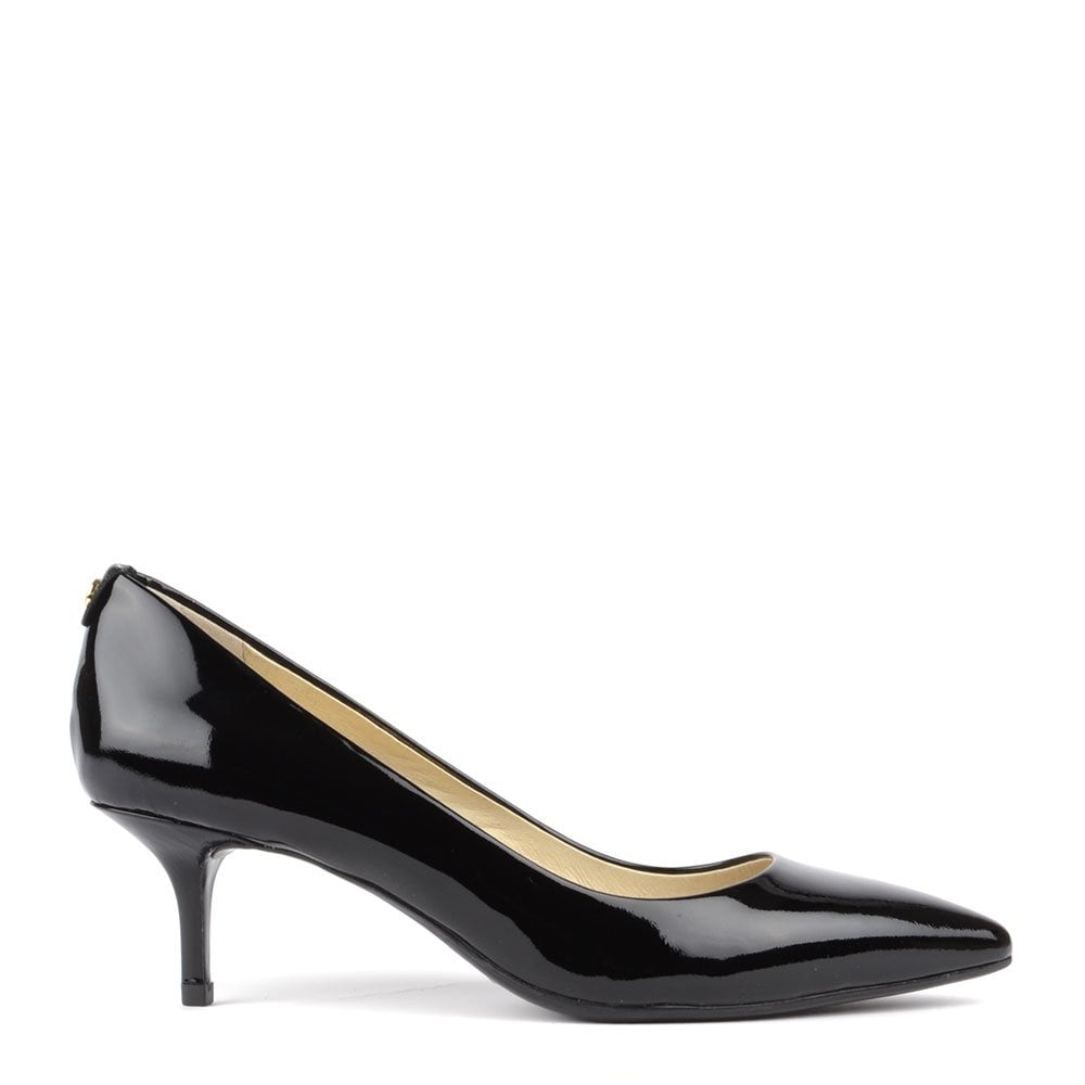 MK Flex Black Patent Kitten Pump