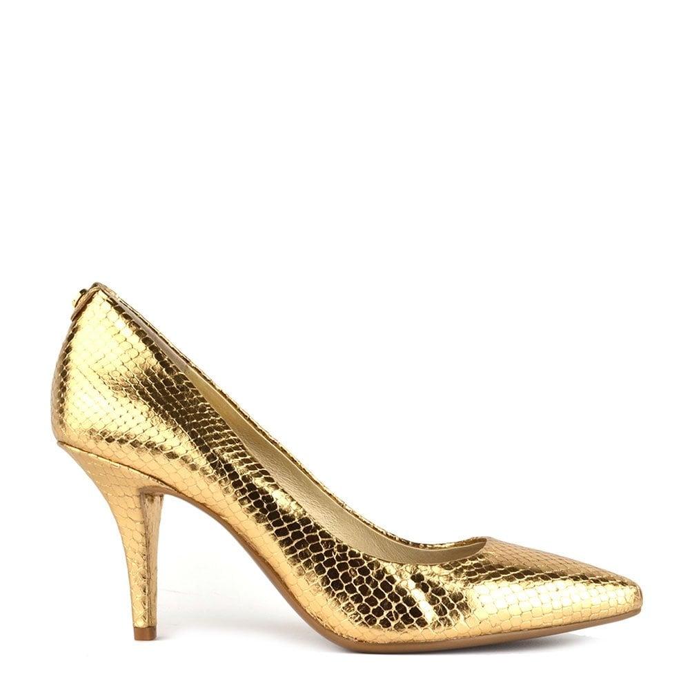 0cdb8abf044a MICHAEL by Michael Kors MK Flex Metallic Gold Mid Pump - Women from ...
