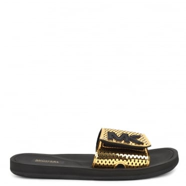 MK Metallic Gold Perforated Slider
