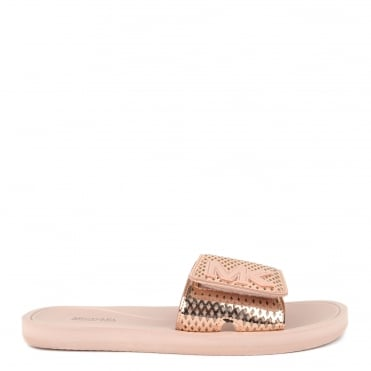 MK Metallic Rose Gold Perforated Slider