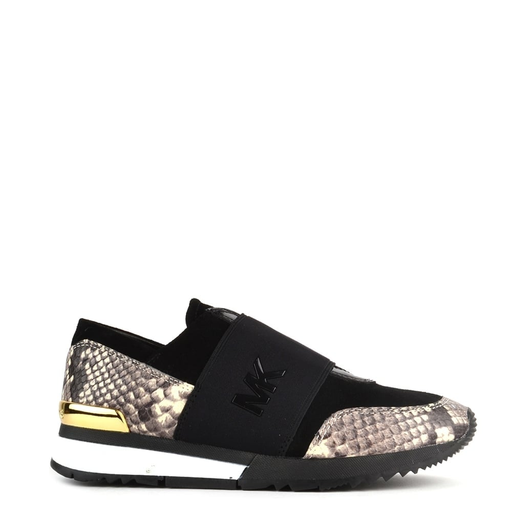 0e4a305a70c MICHAEL by Michael Kors MK Natural Embossed Python Trainer