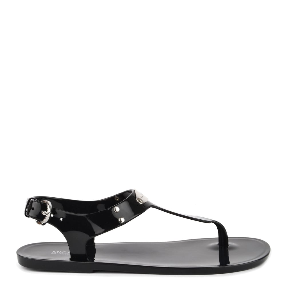 5e273324e MICHAEL by Michael Kors MK Plate Black Jelly Sandal
