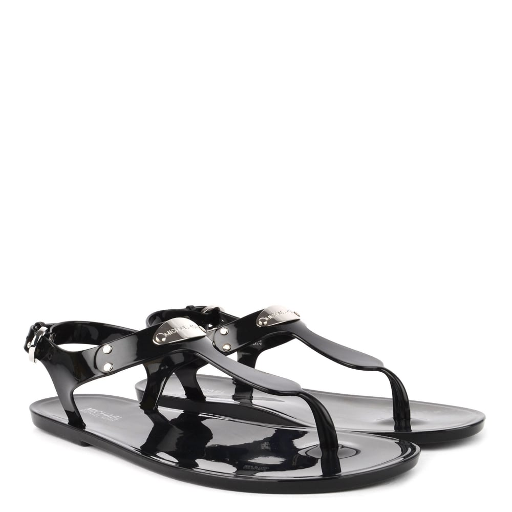 75190d5b909e MICHAEL Michael Kors MK Plate Black Jelly Sandal