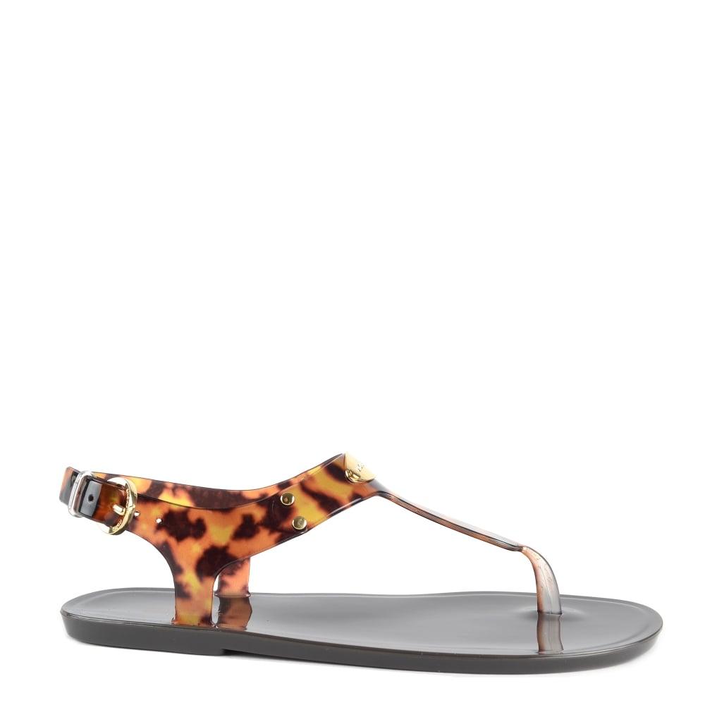 Michael Kors Mk Plate Jelly Sandals