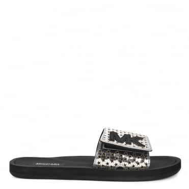 MK Silver Metallic Star Cut Out Slide