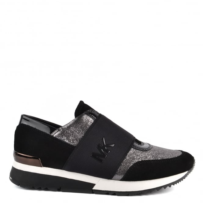 MICHAEL by Michael Kors MK Trainer Black and Gunmetal Trainer