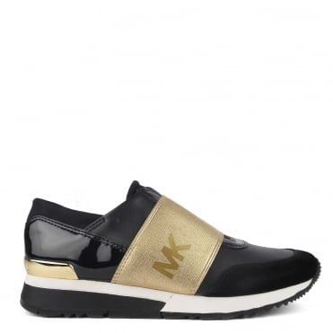 MK Trainer Black and Pale Gold Trainer
