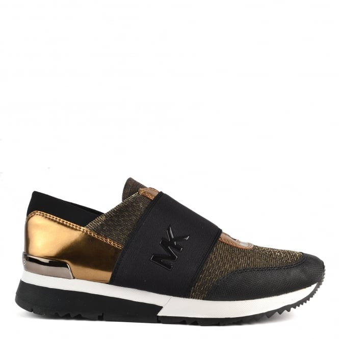 MICHAEL by Michael Kors MK Trainer Bronze and Black Trainer