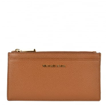 Money Pieces Acorn Leather Slim Card Case