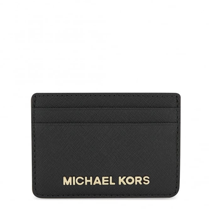 MICHAEL by Michael Kors Money Pieces Black Leather Card Holder