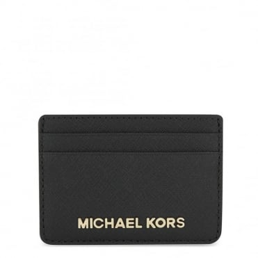 Money Pieces Black Leather Card Holder