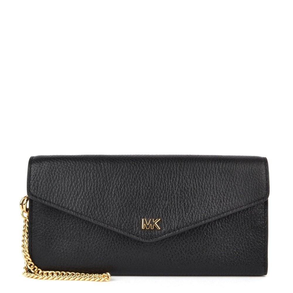 a90a4baad23e4 MICHAEL by Michael Kors Money Pieces Black Leather Envelope Wallet