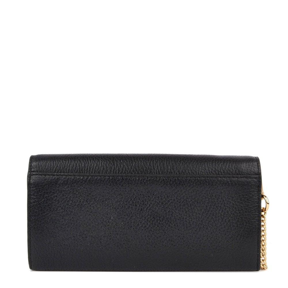 e3948c4cf6a1f5 MICHAEL MICHAEL KORS Money Pieces Black Leather Envelope Wallet