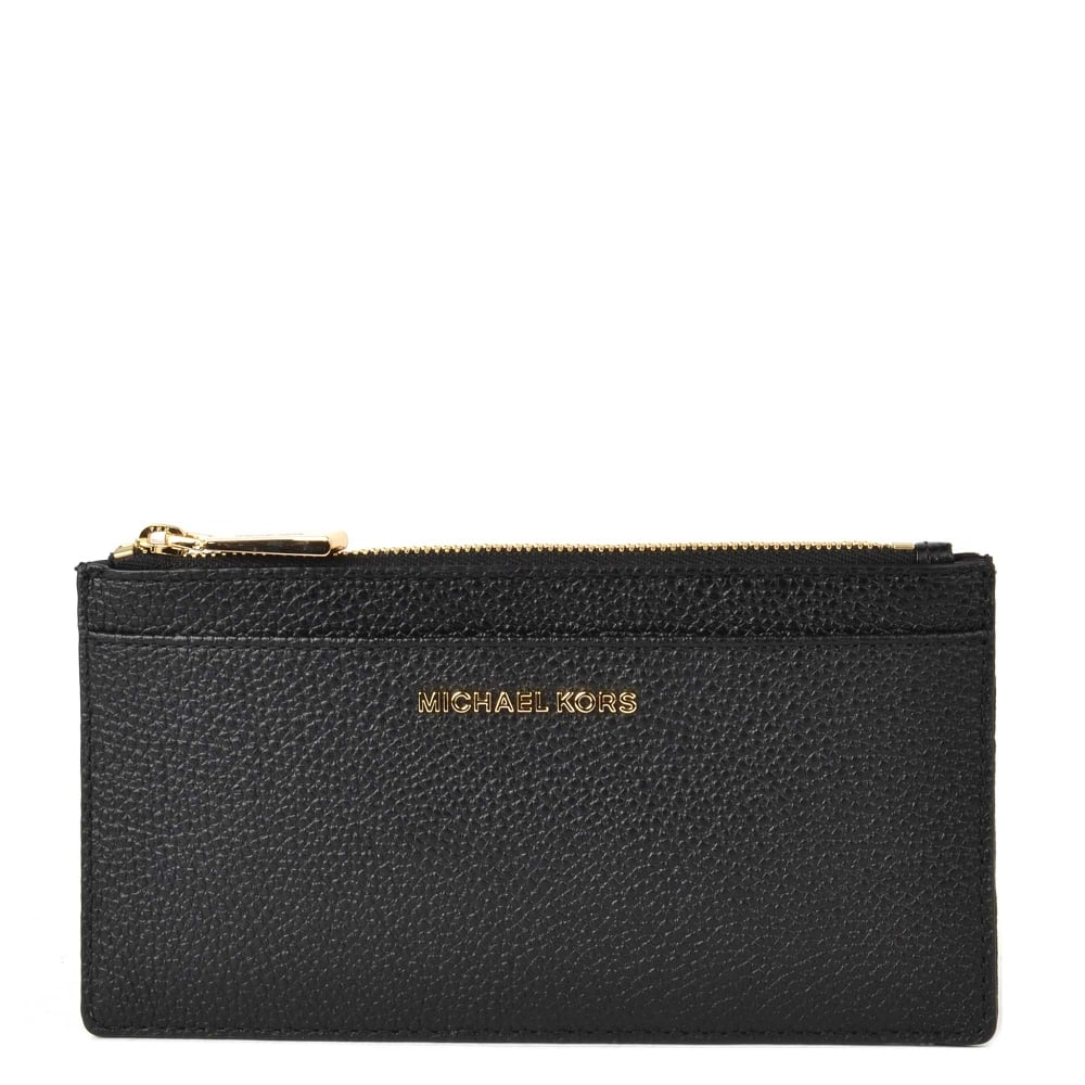 d850ad9b51fb MICHAEL by Michael Kors Money Pieces Black Leather Slim Card Case