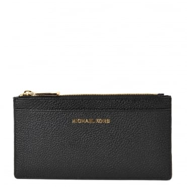 Money Pieces Black Leather Slim Card Case