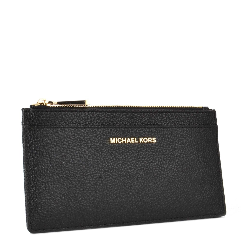 new concept dc118 ab8a8 Money Pieces Black Leather Slim Card Case