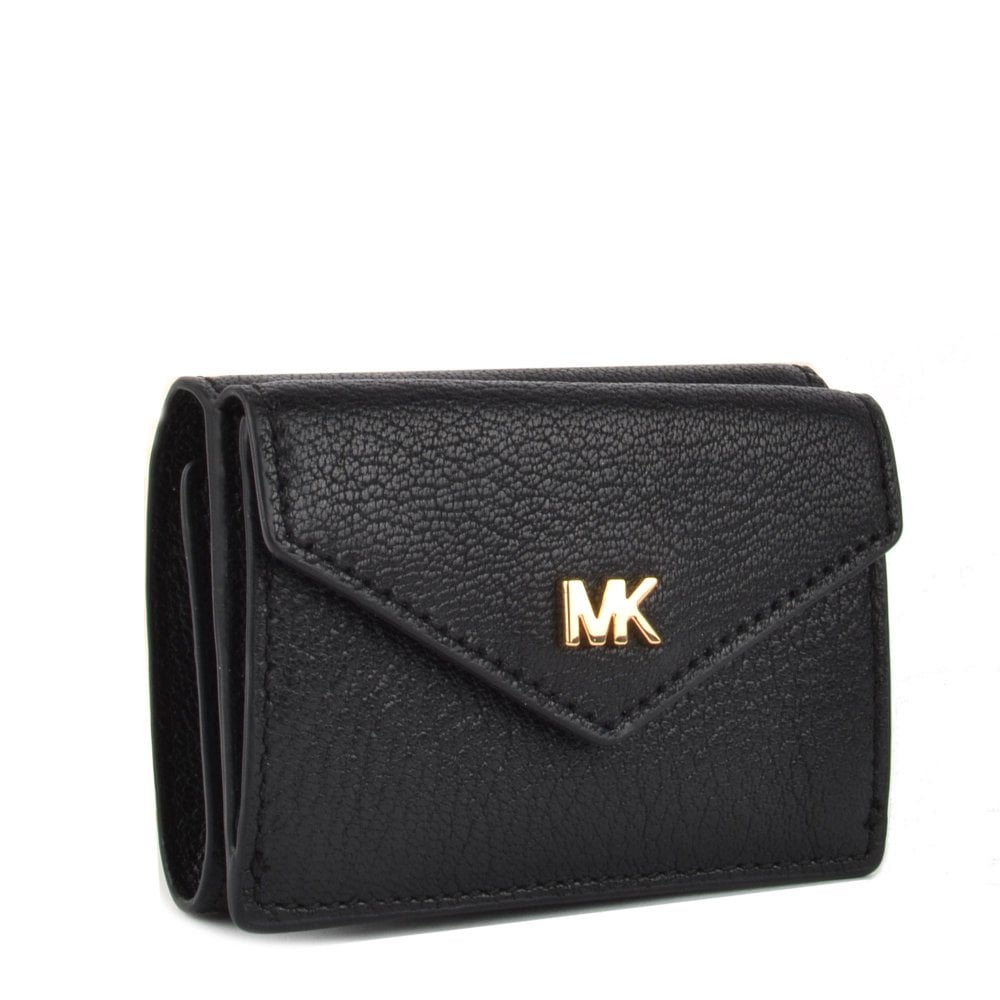 868cde81c200d3 MICHAEL MICHAEL KORS Money Pieces Black Small Trifold Flap Wallet