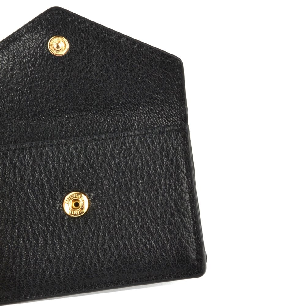 73eafd8c0a3e MICHAEL MICHAEL KORS Money Pieces Black Small Trifold Flap Wallet