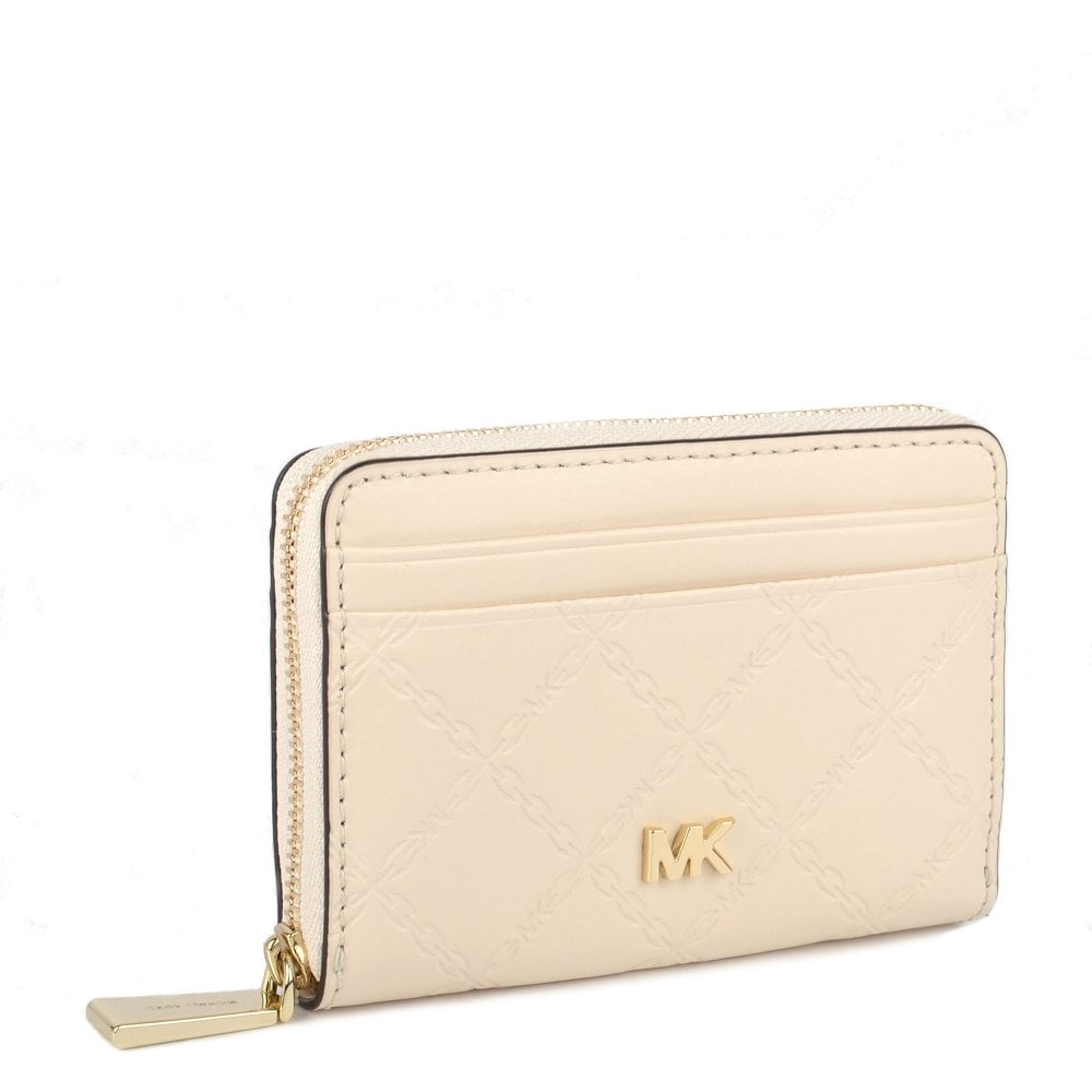 7c552e855d26 MICHAEL by Michael Kors Money Pieces Light Cream Zip Around Coin Card Case