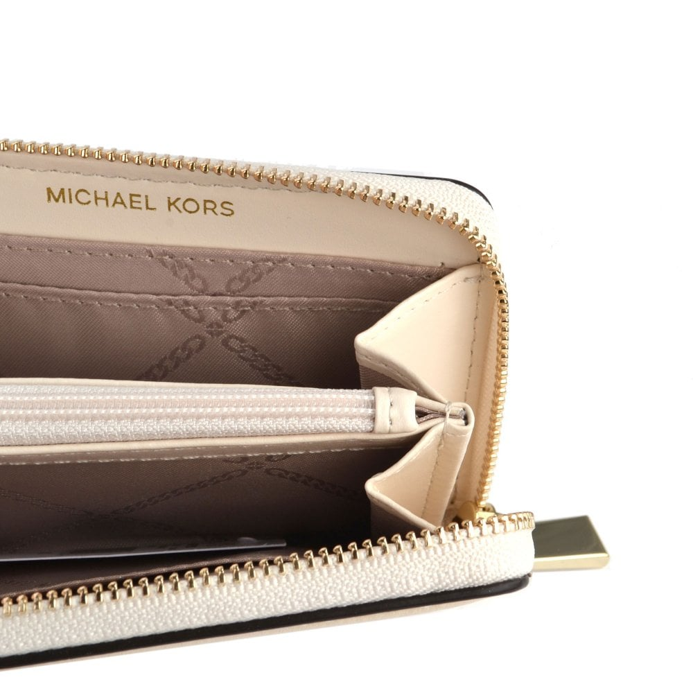 faba8d8a1a7f MICHAEL MICHAEL KORS Money Pieces Light Cream Zip Around Coin Card Case