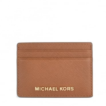 Money Pieces Luggage 'Tan' Leather Card Holder