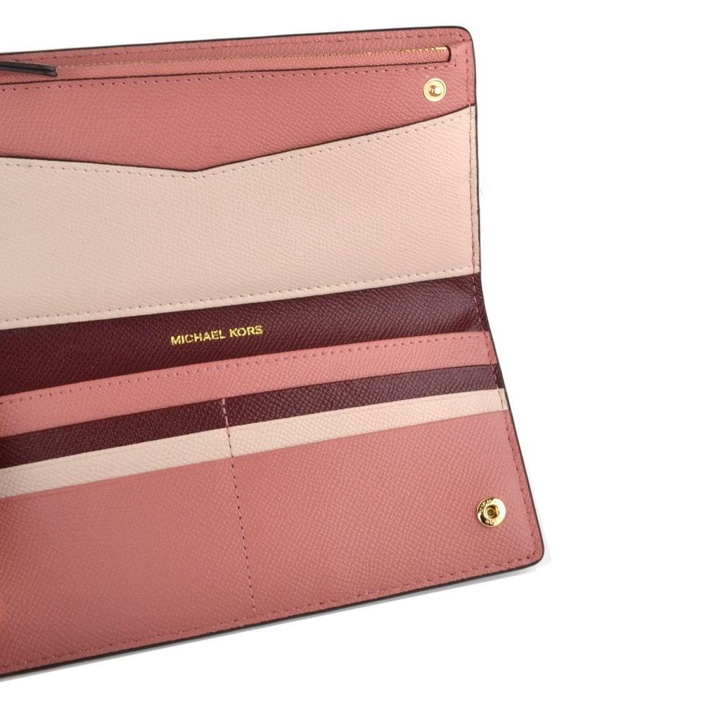 5368ad00d1e6 MICHAEL Michael Kors Money Pieces Oxblood Large Card Case Carryall ...