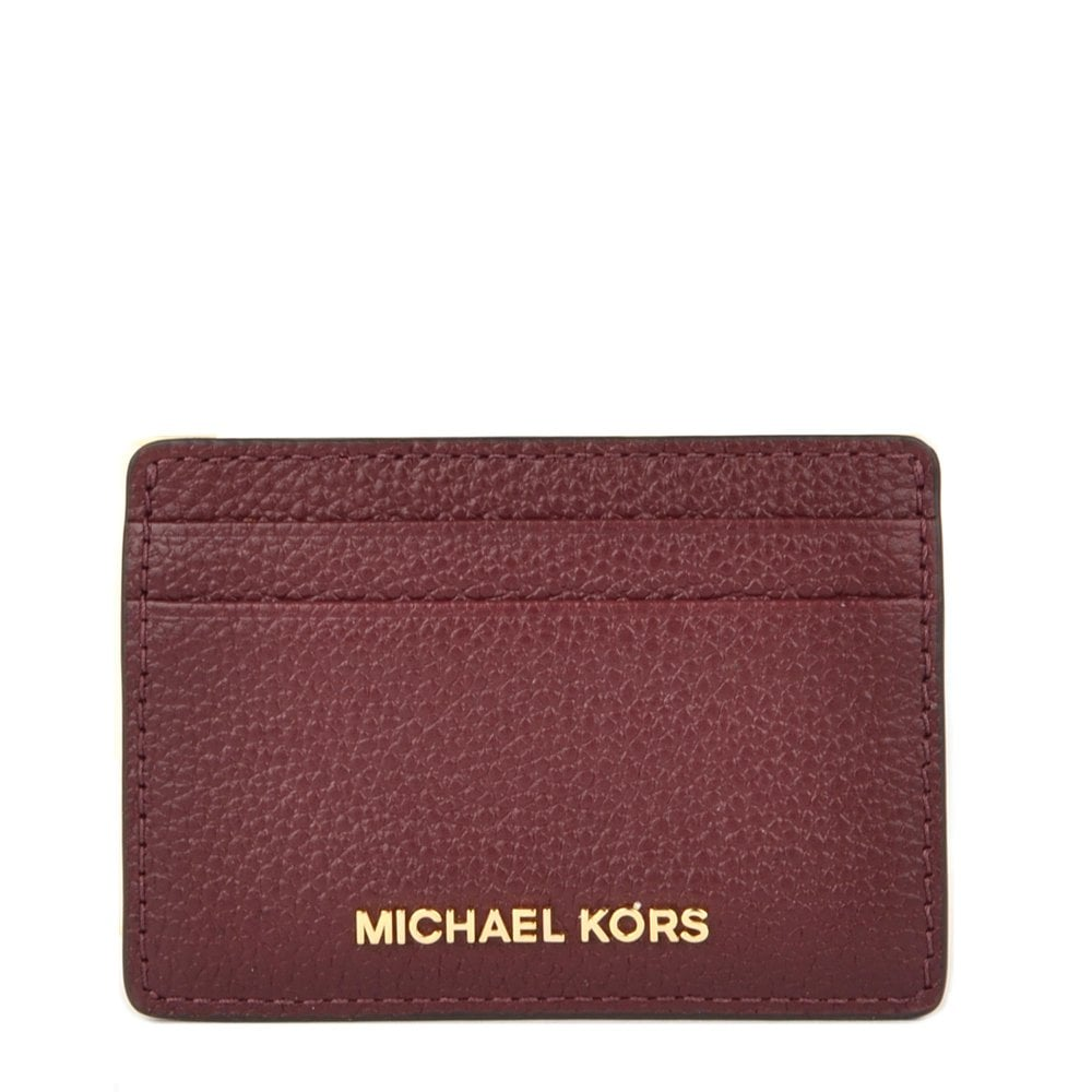 6f28f0e71924 MICHAEL by Michael Kors Money Pieces Oxblood Leather Card Holder