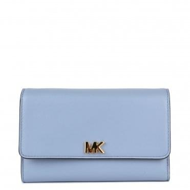 Money Pieces Pale Blue Medium Carry All Wallet