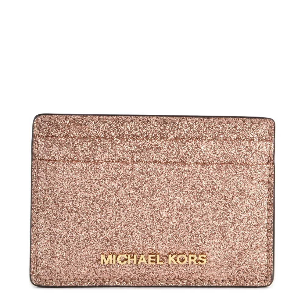 168234ae2d98 MICHAEL by Michael Kors Money Pieces Rose Gold Leather Card Holder