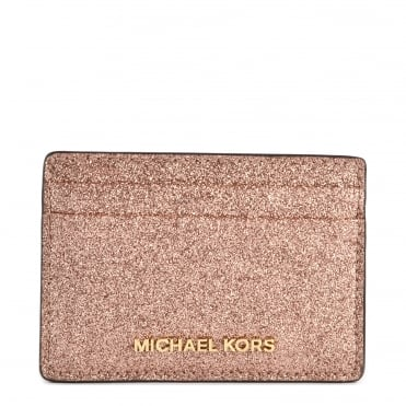 Money Pieces Rose Gold Leather Card Holder