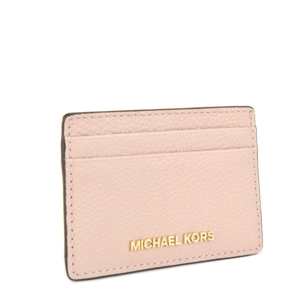 10a3f3e29e88 MICHAEL MICHAEL KORS Money Pieces Soft Pink Leather Card Holder