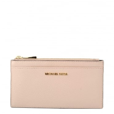 Money Pieces Soft Pink Leather Slim Card Case