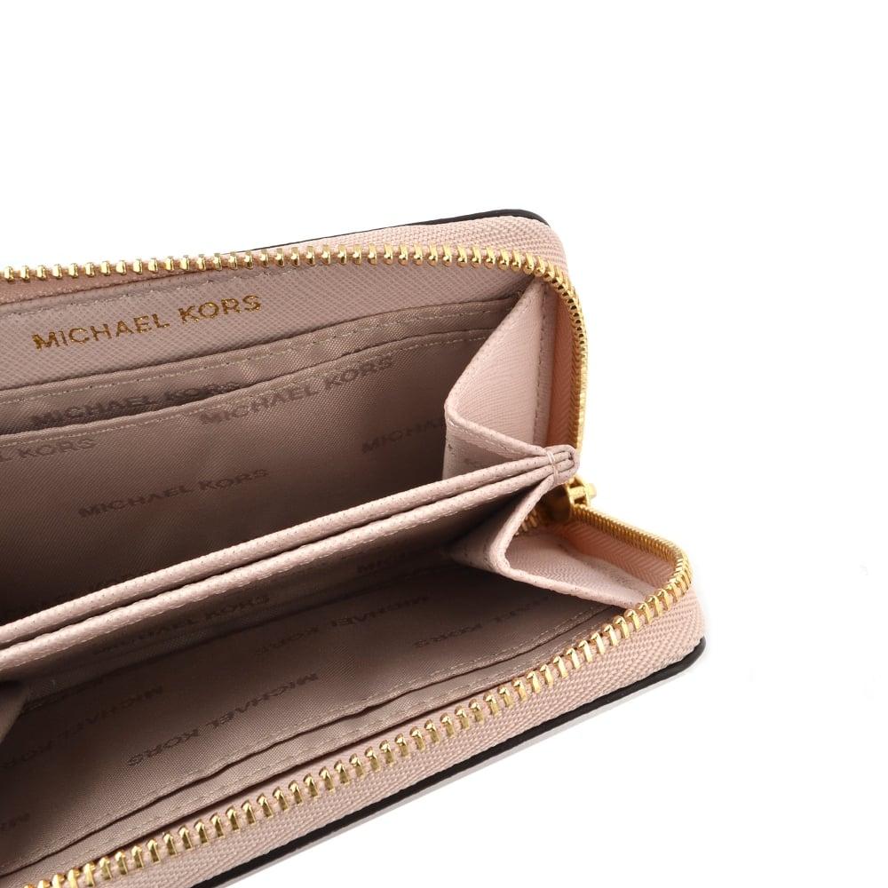 c61e1bcc34113f MICHAEL MICHAEL KORS Money Pieces Soft Pink Zip Around Card Case