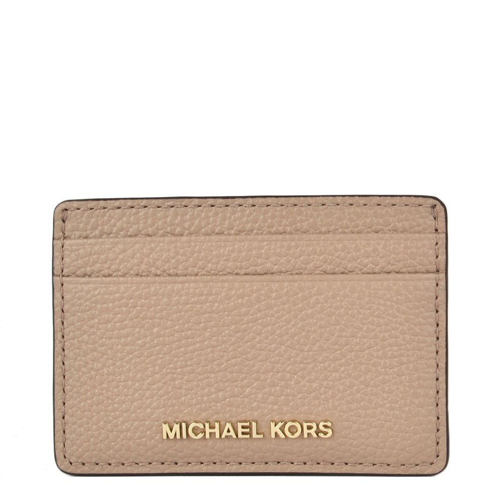 639c0ff9623af7 MICHAEL by Michael Kors Money Pieces Truffle Grained Leather Card Holder
