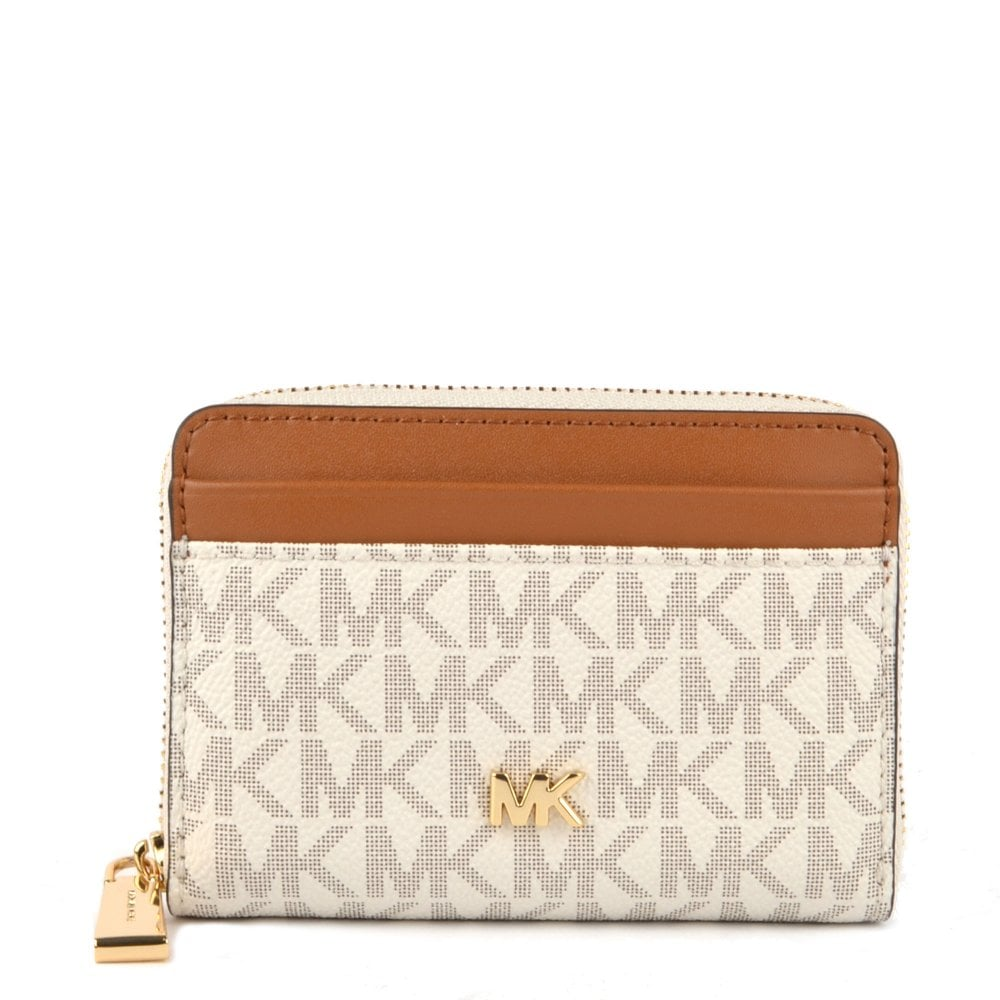 4929cb4b5eec MICHAEL by Michael Kors Money Pieces Vanilla Logo Zip Around Card Case