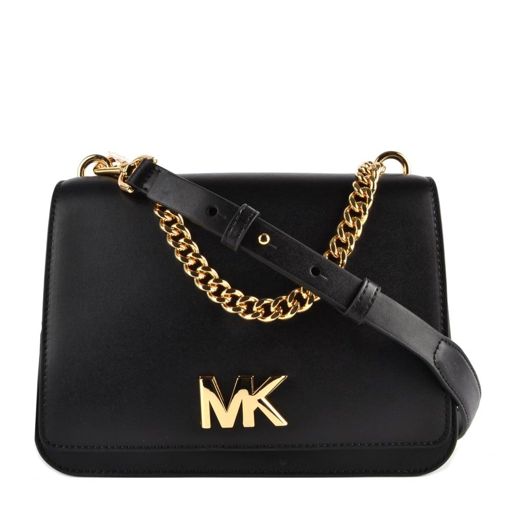 6230e8bf4 MICHAEL MICHAEL KORS Mott Black Large Chain Shoulder Bag