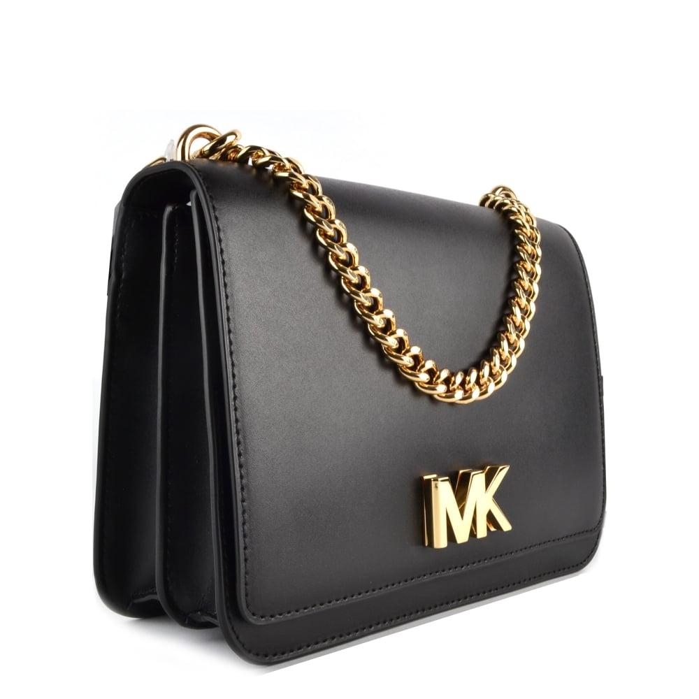 e46617c34eba MICHAEL MICHAEL KORS Mott Black Large Chain Shoulder Bag