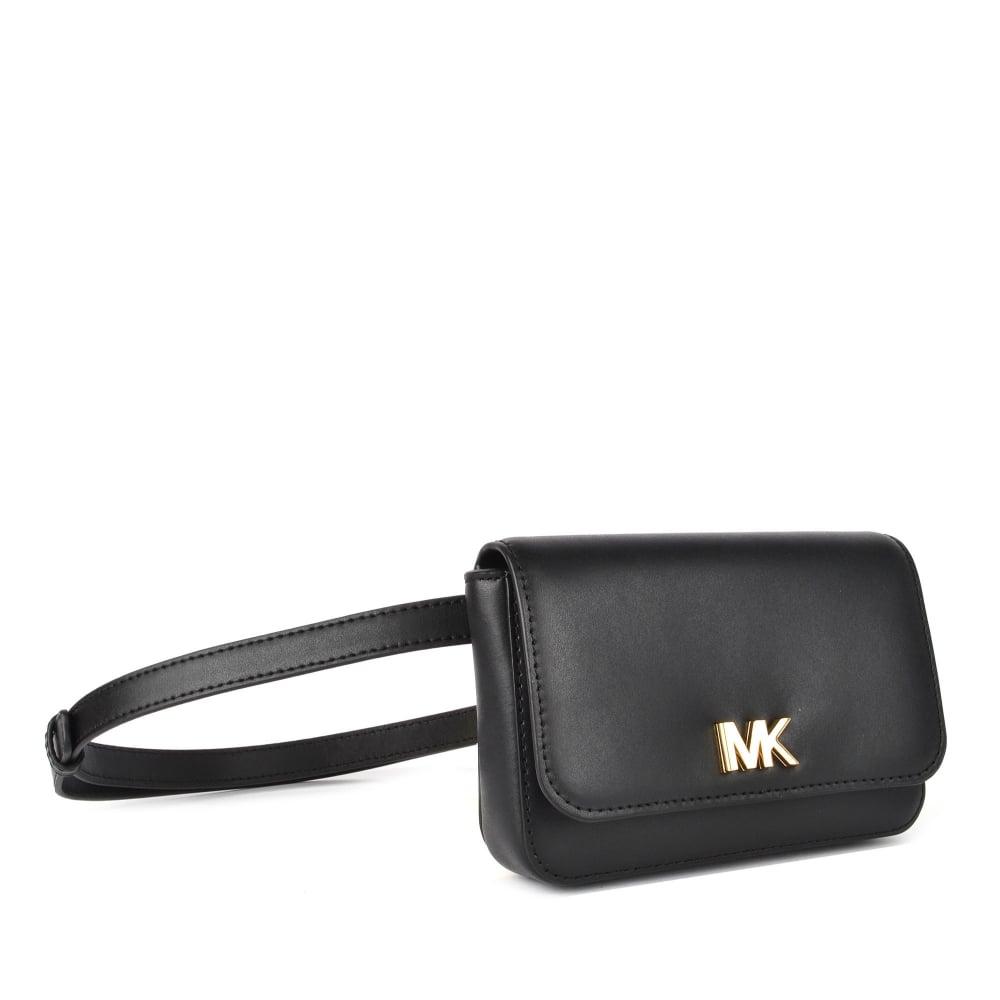 6b4e874d4e92f MICHAEL Michael Kors Mott Black Leather Belt Bag