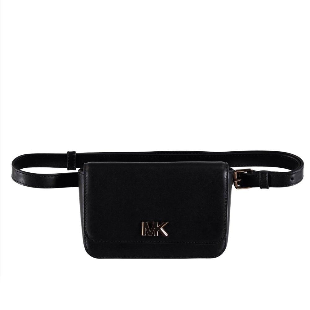 MICHAEL by Michael Kors Mott Black Leather Belt Bag