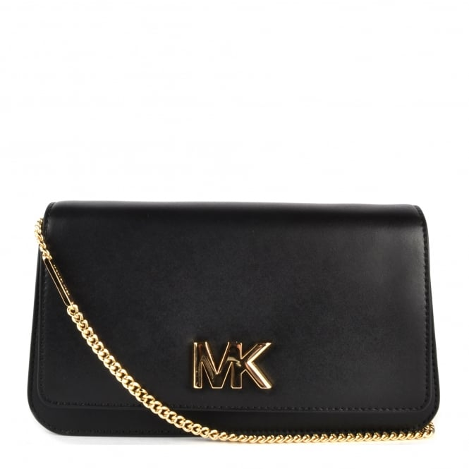 MICHAEL by Michael Kors Mott Black Leather Clutch Bag
