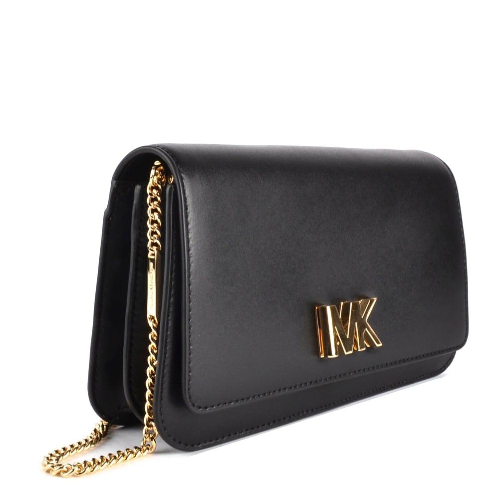 1ca6c10d82bd MICHAEL MICHAEL KORS Mott Black Leather Clutch Bag