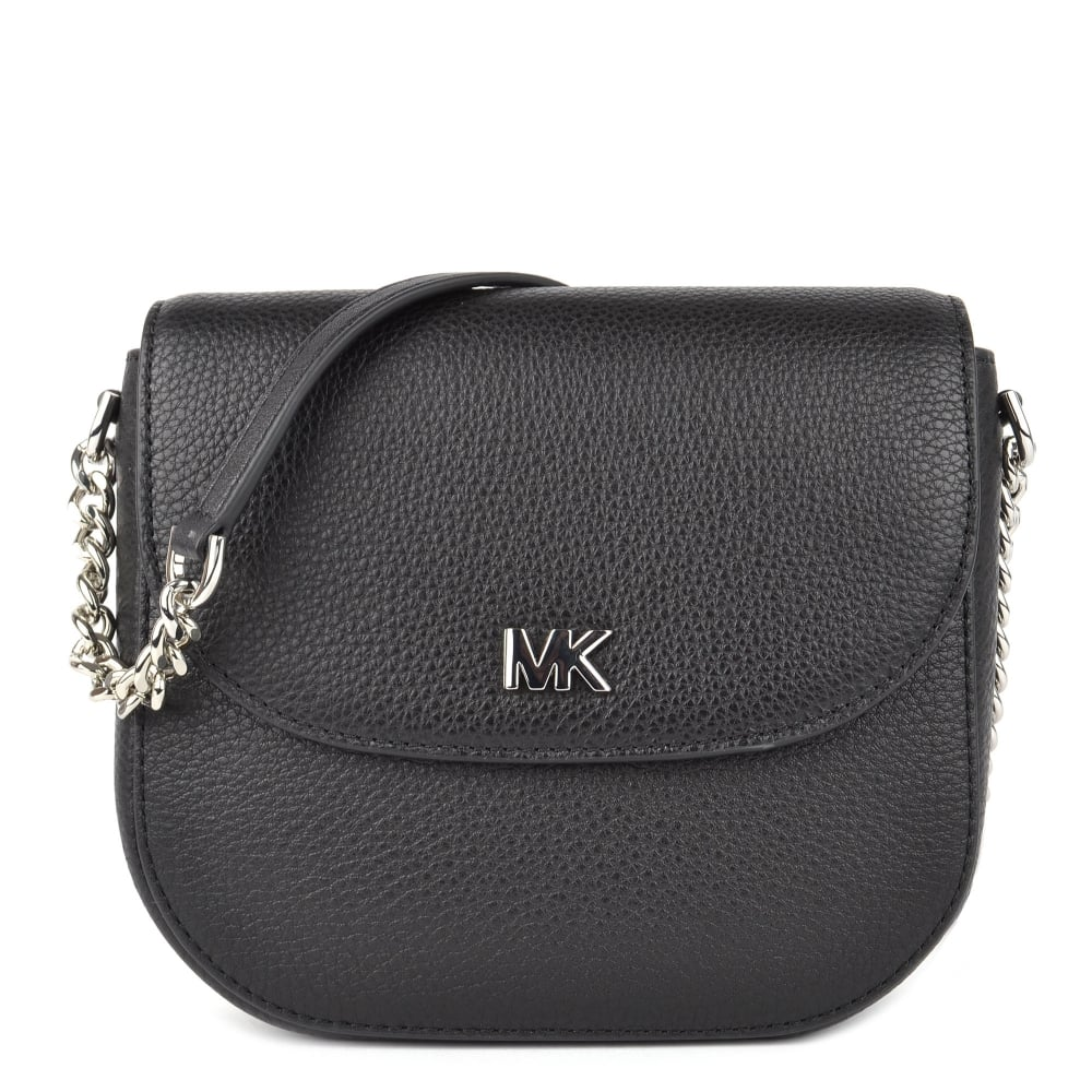 c33d096ffd9b MICHAEL by Michael Kors Mott Black Leather Dome Crossbody
