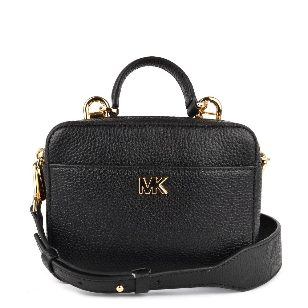 b1199f13e7d7 MICHAEL by Michael Kors Mott Mini Black Leather Crossbody Bag