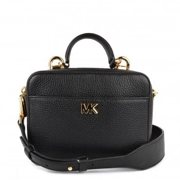 Mott Mini Black Leather Crossbody Bag