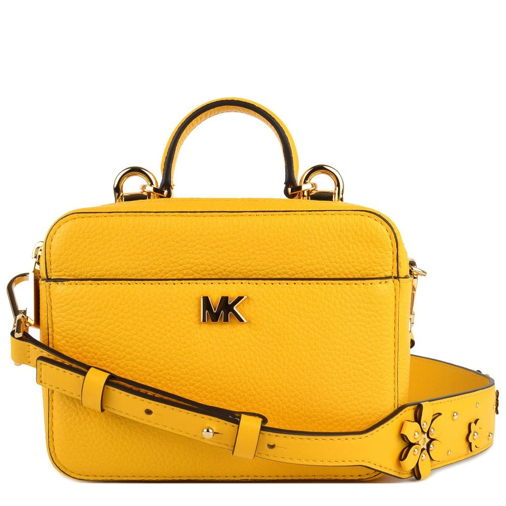 98665fdaaf78 MICHAEL by Michael Kors Mott Mini Sunflower Leather Crossbody