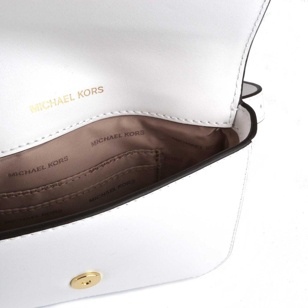 d90f753cad3b MICHAEL Michael Kors MOTT Optic White Leather Belt Bag