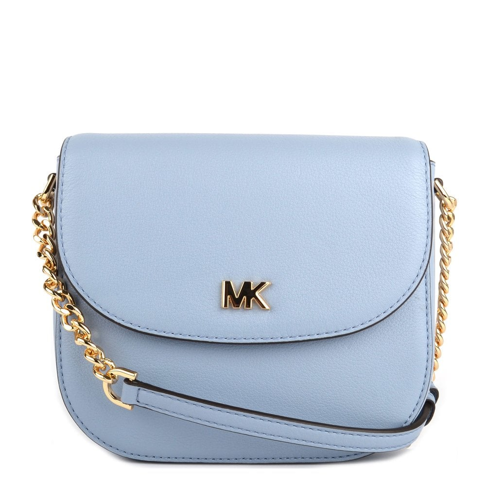 9d5efa358392 MICHAEL by Michael Kors Mott Pale Blue Leather Dome Crossbody