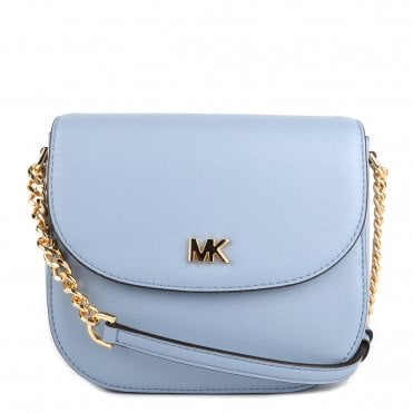 Mott Pale Blue Leather Dome Crossbody